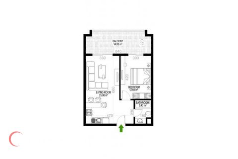 1+1 Apartment in Mahmutlar, Turkey No. 1350 - 1