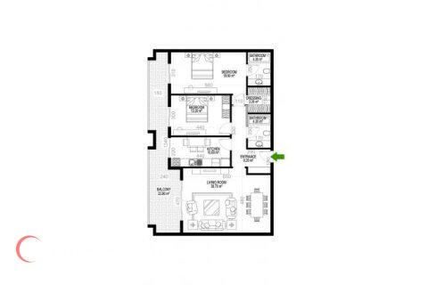 2+1 Apartment in Mahmutlar, Turkey No. 1275 - 1