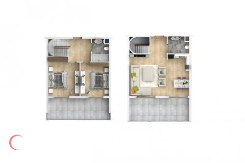 2+1 Penthouse in Mahmutlar, Turkey No. 1554 - 2