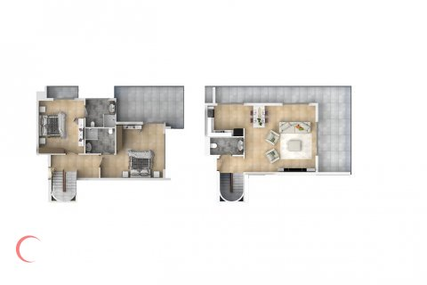 2+1 Penthouse in Mahmutlar, Turkey No. 1550 - 2
