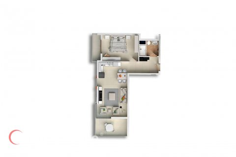 1+1 Apartment in Mahmutlar, Turkey No. 1717 - 2