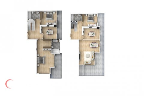 4+1 Penthouse in Mahmutlar, Turkey No. 1544 - 2