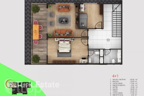 Apartment in Alanya, Turkey No. 353 - 25