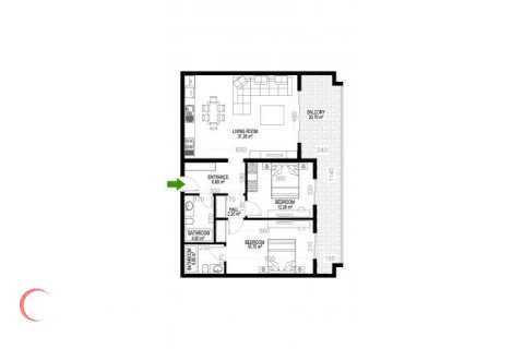 2+1 Apartment in Mahmutlar, Turkey No. 1427 - 1