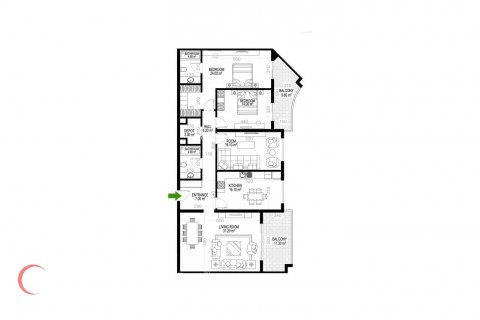 3+1 Apartment in Mahmutlar, Turkey No. 1503 - 1