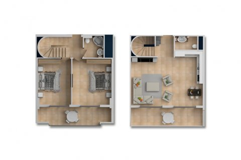2+1 Penthouse in Mahmutlar, Turkey No. 2112 - 2