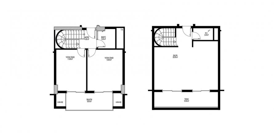 2+1 Penthouse in Mahmutlar, Turkey No. 2112