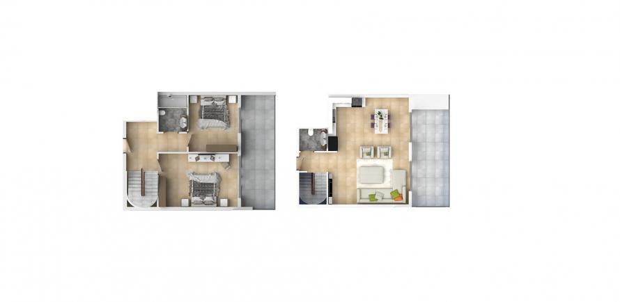 3+1 Penthouse in Mahmutlar, Turkey No. 1549