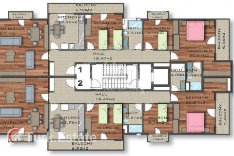 Квартира 2-х ком. в Аланье, Турция №1117 - 36