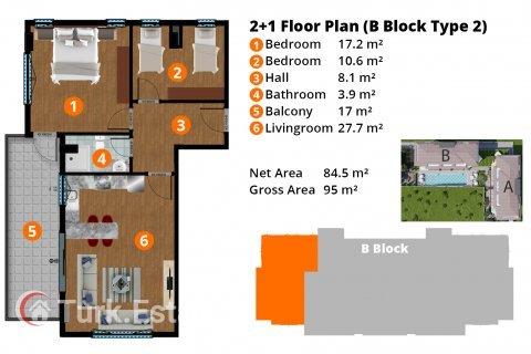 Продажа квартиры в Кестеле, Анталья, Турция 2+1, 95м2, №1901 – фото 21