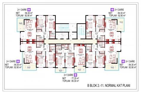 Продажа квартиры в Махмутларе, Анталья, Турция 2+1, 70м2, №2785 – фото 18