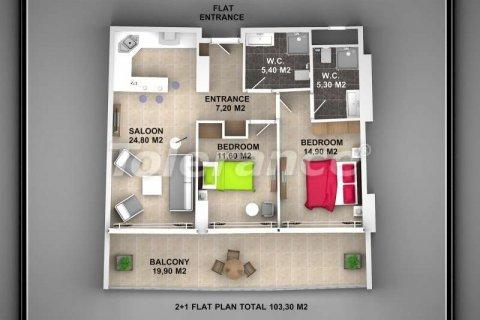 Продажа квартиры в Аланье, Анталья, Турция 1+1, 62м2, №3720 – фото 6