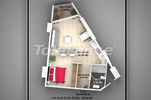 Продажа квартиры в Аланье, Анталья, Турция 1+1, 62м2, №3720 – фото 4