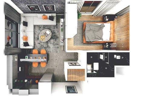 Продажа квартиры в Фамагусте, Северный Кипр 2 комн., 52м2, №4202 – фото 2