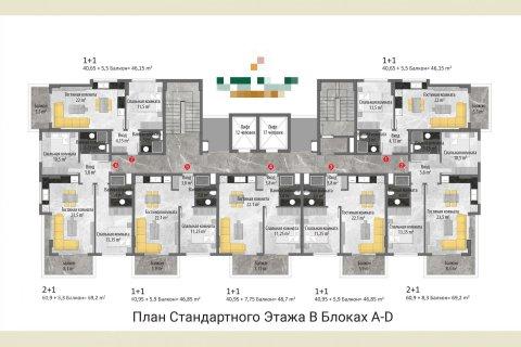 Квартира 1-х ком. в Авсалларе, Турция №323 - 17