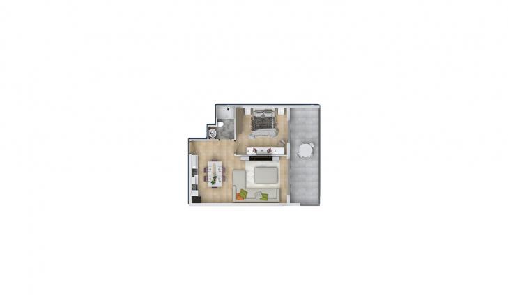 Квартира 1+1 в Махмутларе, Турция №1648