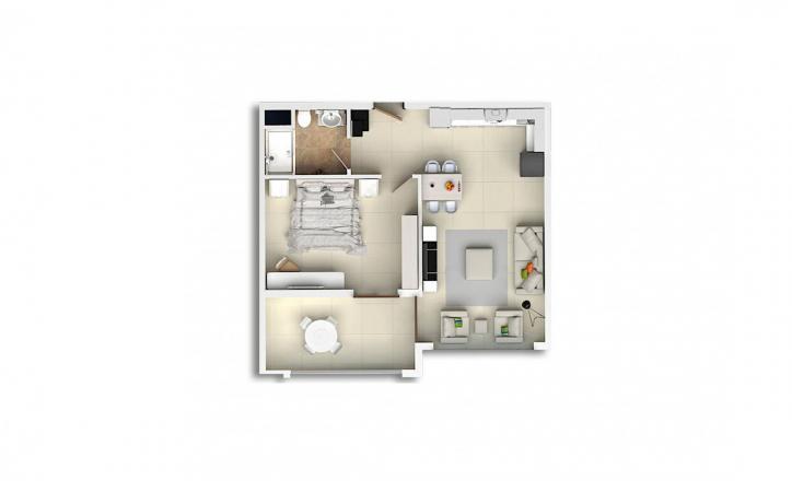 Квартира 1+1 в Махмутларе, Турция №1678