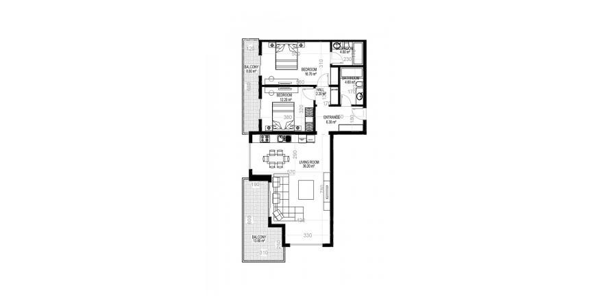 Продажа квартиры в Махмутларе, Анталья, Турция 2+1, 132.6м2, №1587 – фото 1