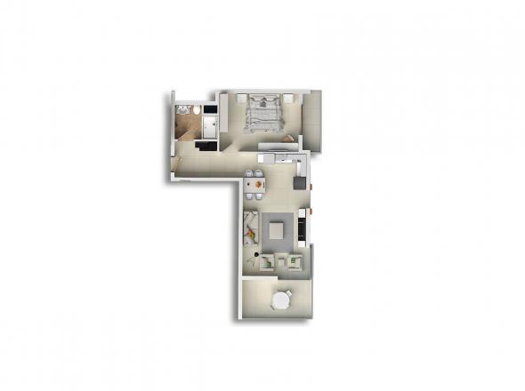 Квартира 1+1 в Махмутларе, Турция №1676