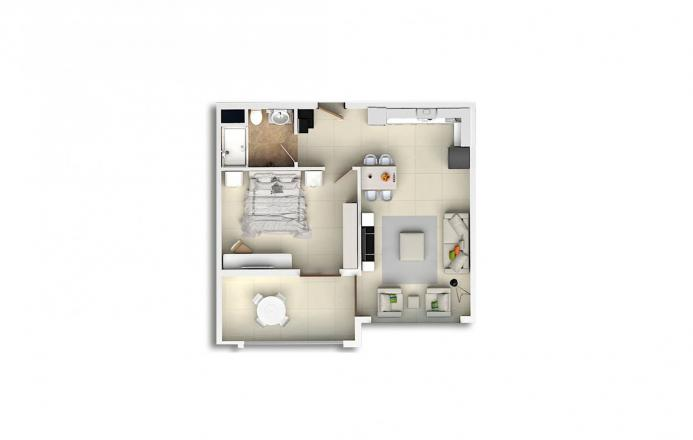 Квартира 1+1 в Махмутларе, Турция №1693