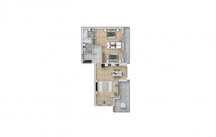 Продажа квартиры в Махмутларе, Анталья, Турция 2+1, 135м2, №1647 – фото 2