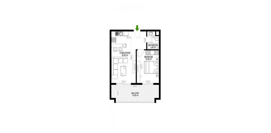 Квартира 1+1 в Махмутларе, Турция №1426