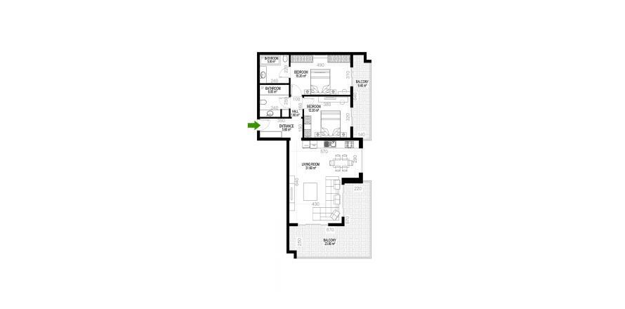 Квартира 2+1 в Махмутларе, Турция №1267