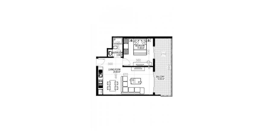 Квартира 1+1 в Махмутларе, Турция №1630