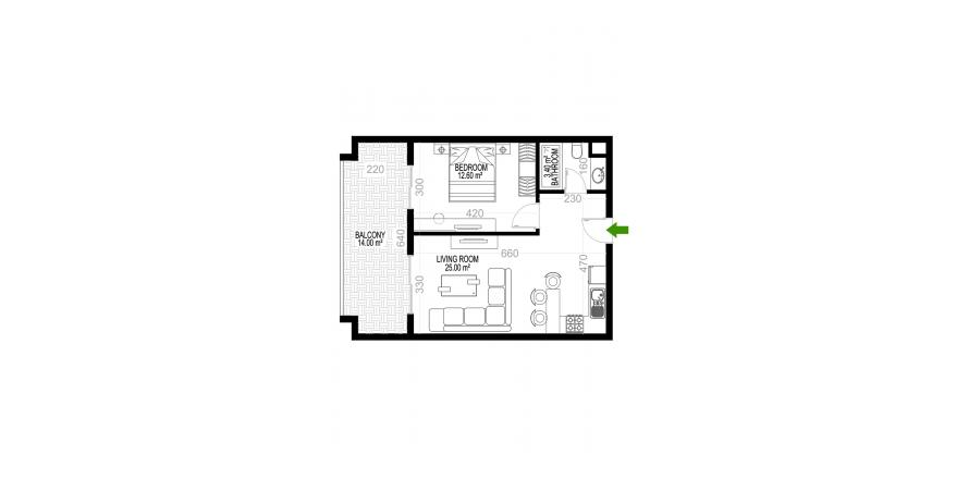 Квартира 1+1 в Махмутларе, Турция №1319