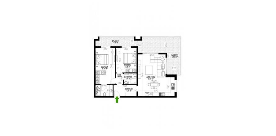 Квартира 2+1 в Махмутларе, Турция №1455