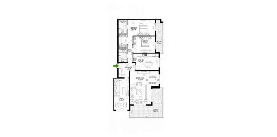 Квартира 3+1 в Махмутларе, Турция №1509