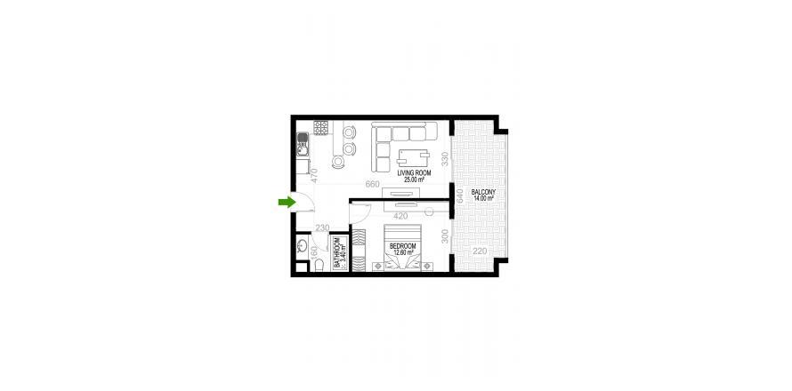 Квартира 1+1 в Махмутларе, Турция №1325