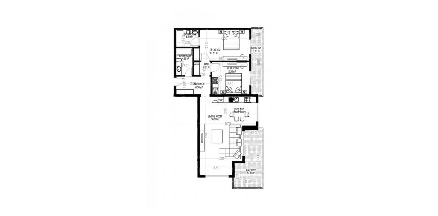 Квартира 2+1 в Махмутларе, Турция №1657