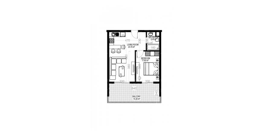 Продажа квартиры в Махмутларе, Анталья, Турция 1+1, 70.5м2, №1594 – фото 1