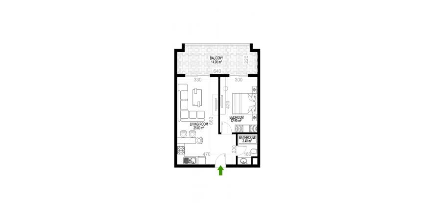 Квартира 1+1 в Махмутларе, Турция №1362