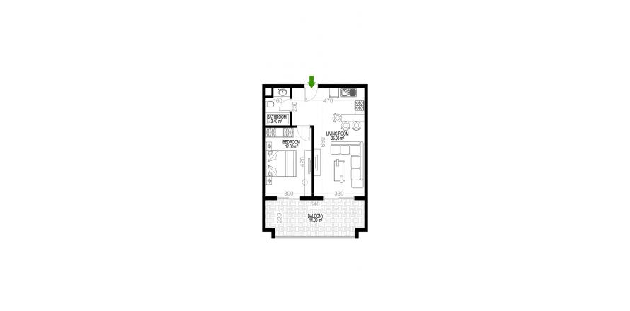 Квартира 1+1 в Махмутларе, Турция №1385