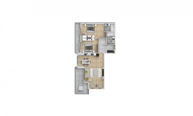 Продажа квартиры в Махмутларе, Анталья, Турция 2+1, 132.6м2, №1587 – фото 2