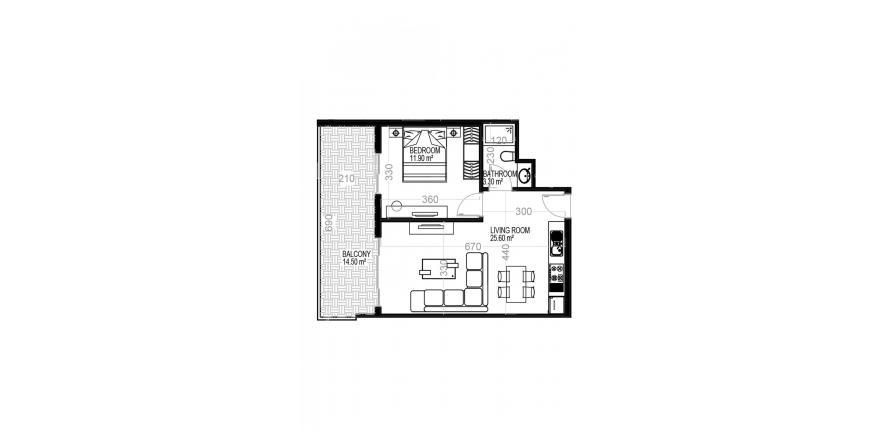 Квартира 1+1 в Махмутларе, Турция №1567