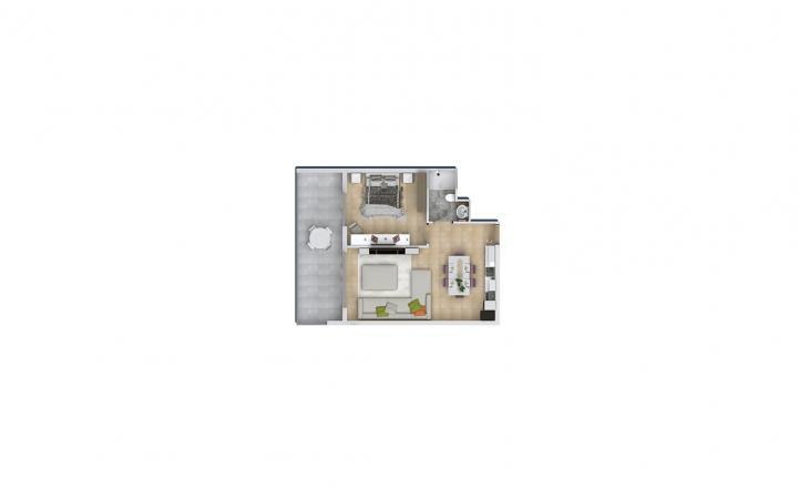 Продажа квартиры в Махмутларе, Анталья, Турция 1+1, 72м2, №1589 – фото 2