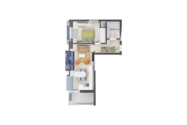 Продажа квартиры в Махмутларе, Анталья, Турция 1+1, 68м2, №21771 – фото 2