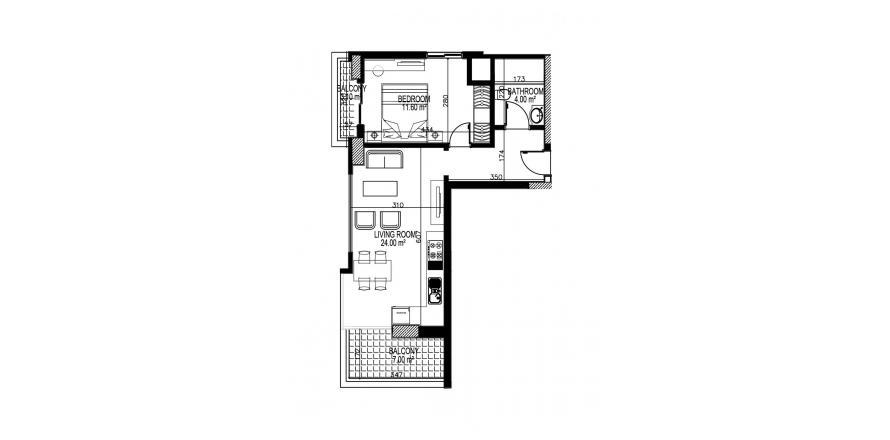 Продажа квартиры в Махмутларе, Анталья, Турция 1+1, 68м2, №21771 – фото 1