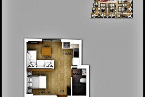 Продажа квартиры в Фетхие, Мугла, Турция 1+1, 35м2, №24476 – фото 5